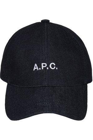 A.P.C. Kvinna Kepsar - Embroidered Logo Cotton Denim Cap