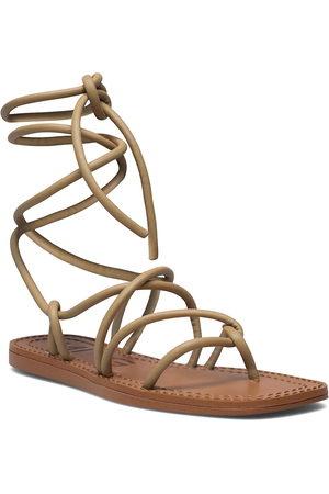 Mango Kvinna Sandaler - Turtle Shoes Summer Shoes Flat Sandals Beige