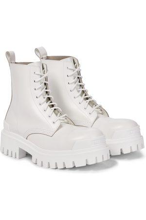 Balenciaga Strike leather combat boots