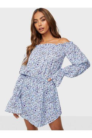 NLY Bare Shoulder Print Dress Skater Dresses