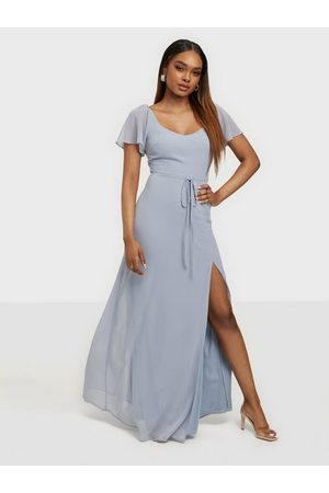 NLY Eve Frill Sweetheart Gown Maxiklänningar Dusty Blue