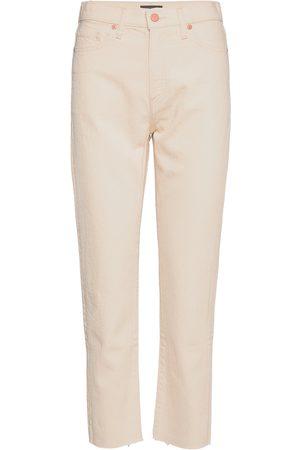 Banana Republic Kvinna High waist - High-Rise Straight Rigid Jean Raka Jeans Creme