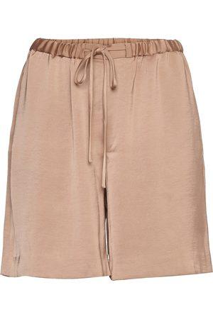 "Banana Republic Kvinna Shorts - Satin 7"""" Bermuda Short Shorts Flowy Shorts/Casual Shorts Beige"