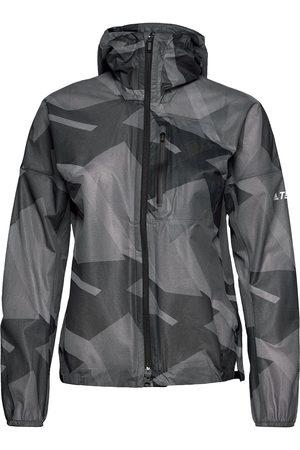 adidas Terrex Agravic Graphic 2.5 Layer Rain Jacket W Outerwear Sport Jackets Svart