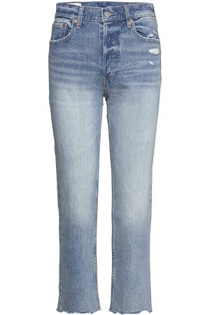 GAP High Rise Distressed Cheeky Straight Jeans With Washwell&# Raka Jeans