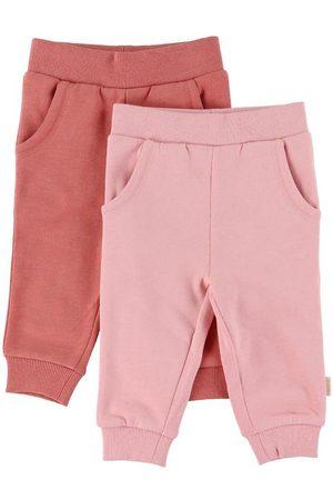 Minymo Flicka Joggingbyxor - Sweatpants - 2-pack - Canyon Rose