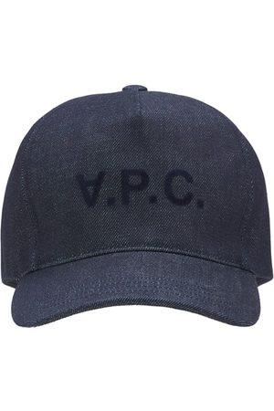 A.P.C. Cotton Denim Logo Cap
