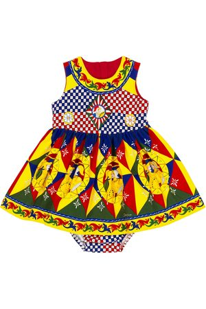 Dolce & Gabbana Baby printed dress and bloomers set