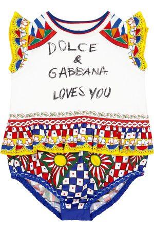 Dolce & Gabbana Baby printed cotton romper