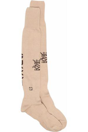 Gucci Intarsiastickade strumpor med logotyp