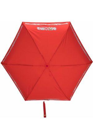 Moschino Kompakt paraply med logotyp