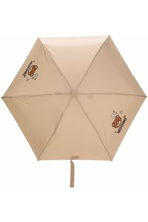 Moschino Teddy Bear paraply med logotyp