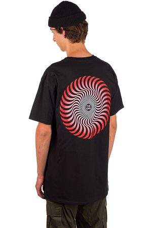 Spitfire Classic Swirl Fade T-Shirt black w/red to white fade