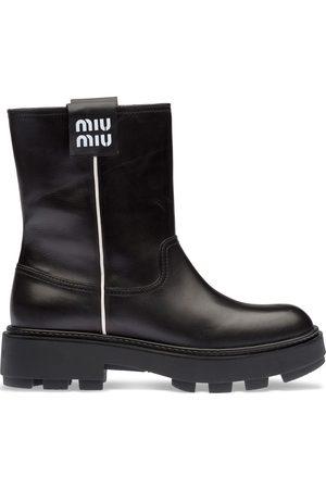 Miu Miu Kvinna Boots - Stövletter med logotypmärke