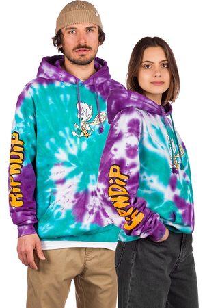 Rip N Dip Ripnstones Hoodie teal purple tie dye