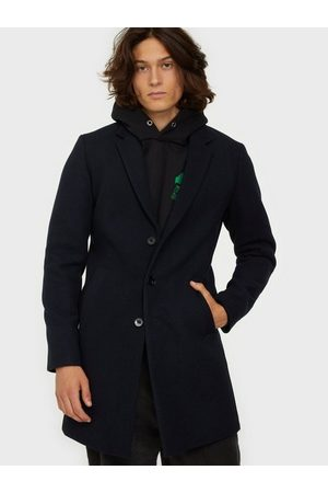 Jack & Jones Man Jackor - Jjemoulder Wool Coat Sts Jackor Dark Navy