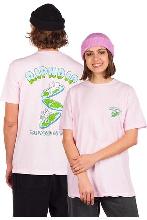 Rip N Dip The World Is Yours T-Shirt pink
