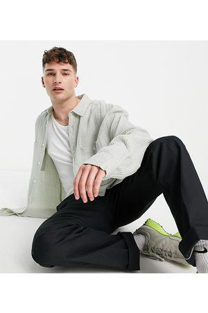 COLLUSION – Ljusgrön skjortjacka med våfflad struktur