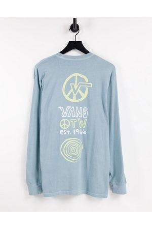 Vans – Jank Ditsy – långärmad t-shirt med tryck på ryggen