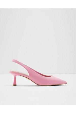 Aldo – Peranga – pumps med sling back och utsvängd klack-Pink