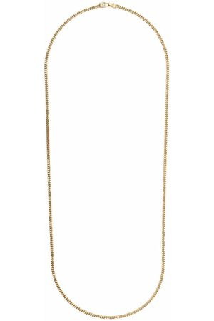 TOM WOOD Halsband - Curb chain gold-plated sterling silver necklace