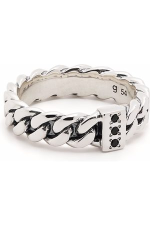 TOM WOOD Ringar - Chain Slim Spinel sterling silver ring