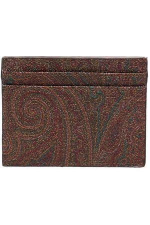 Etro Man Plånböcker - Paisleymönstrad korthållare i läder