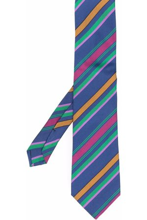 Etro Man Slipsar - Striped cotton-silk tie