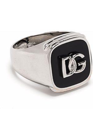 Dolce & Gabbana Man Ringar - Debossed logo signet ring