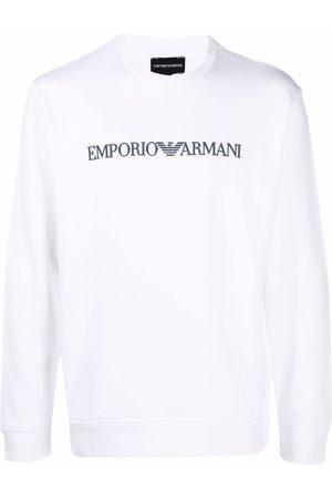 Emporio Armani Man Sweatshirts - Logo-print crew-neck sweatshirt