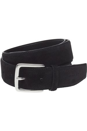 GANT Man Bälten - Classic Suede Belt Accessories Belts Classic Belts Svart
