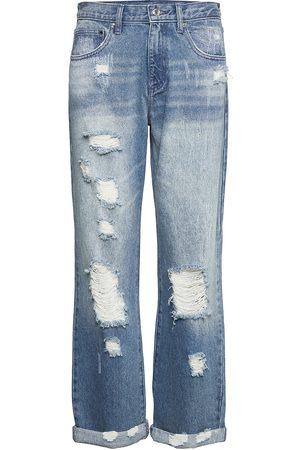 Michael Kors Unisex Dnm Pnt Distressd Raka Jeans Blå