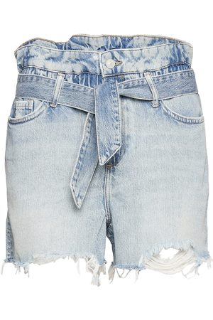 AllSaints Kvinna Shorts - Hannah Paperbag Shor Shorts Denim Shorts