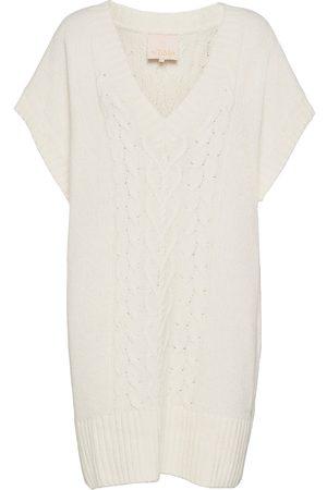 by Ti Mo Cotton Knit Mini Dress Kort Klänning Vit