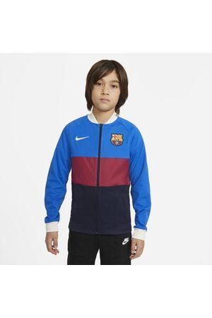 Nike Fotbollsträningsjacka FC Barcelona med hel dragkedja för ungdom