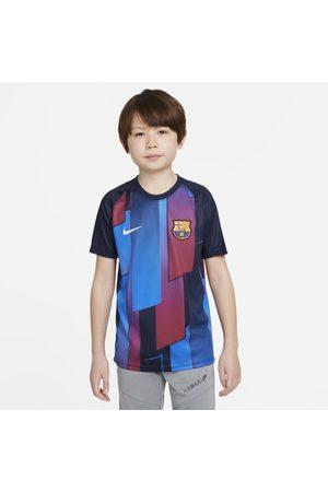 Nike Kortärmad fotbollströja för uppvärmning FC Barcelona för ungdom