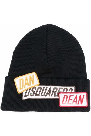 Dsquared2 Man Mössor - Logo-patch wool beanie