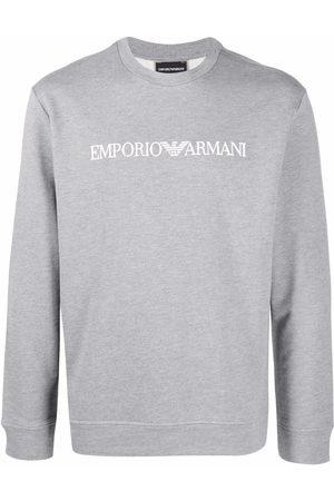 Emporio Armani Logo-print crew-neck swetashirt