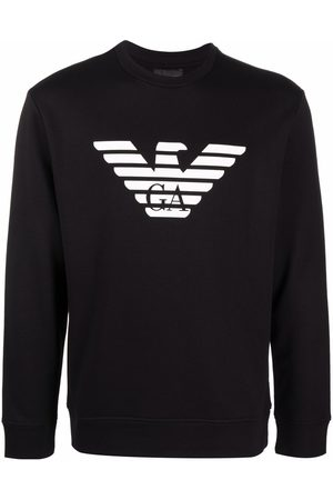 Emporio Armani Man Sweatshirts - Logo-print cotton sweatshirt