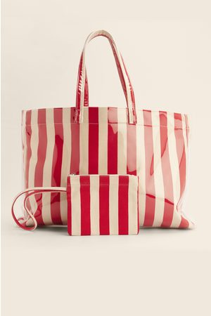 NA-KD Striped Beach Bag