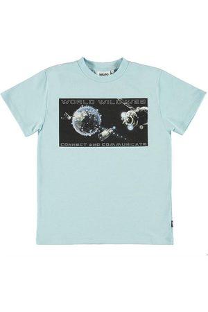 Molo T-shirt - Roxo - Cool Blue m. Tryck