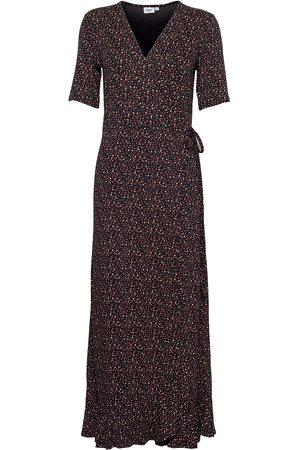 Saint Tropez Minasz Maxi Wrap Dress Maxiklänning Festklänning Brun