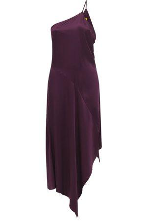 MARQUES'ALMEIDA Asymmetric Silk Crepe Midi Dress