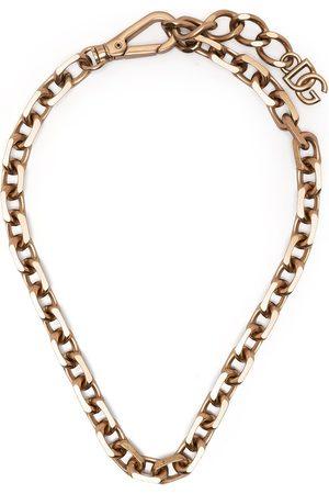 Dolce & Gabbana Man Halsband - Logo-plaque chain necklace