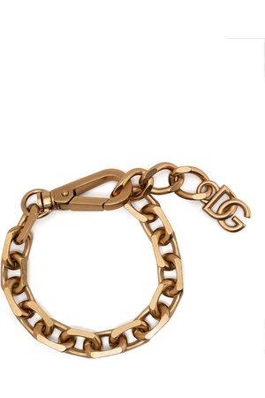 Dolce & Gabbana Man Armband - Logo-plaque chain-link bracelet