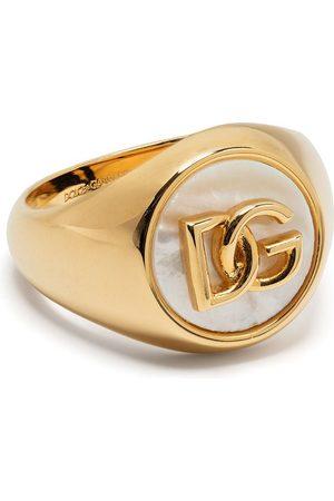Dolce & Gabbana Man Ringar - Logo-plaque pearl-detail ring