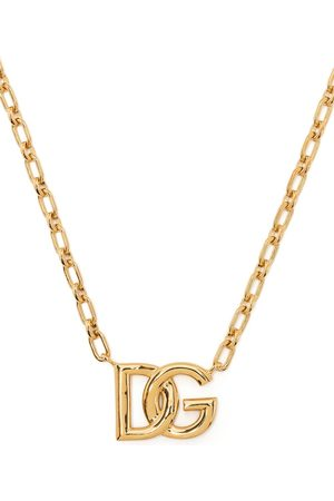 Dolce & Gabbana Man Halsband - Logo-plaque chain-link necklace