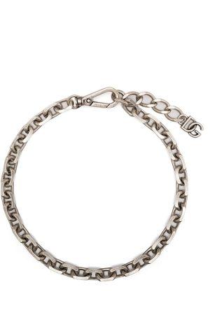 Dolce & Gabbana Man Halsband - Chain-link logo-plaque necklace