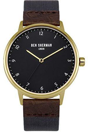 Ben Sherman Kvartsur för män med urtavla analog display och blått tyg rem WB049UG
