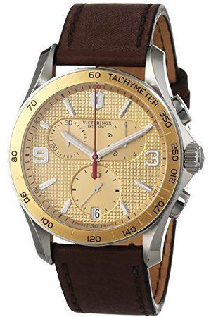 Victorinox Herrarmbandsur kronograf kvarts läder 241659
